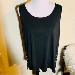 DKNY sleeveless black top